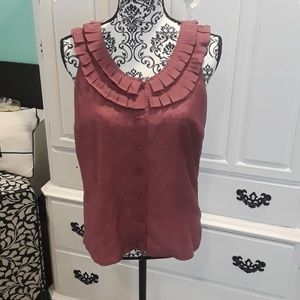 J.Crew ruffle neckline blouse